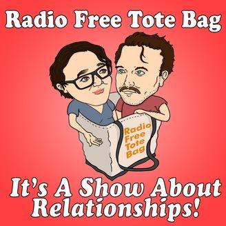 Radio Free Tote Bag | Listen via Stitcher for Podcasts