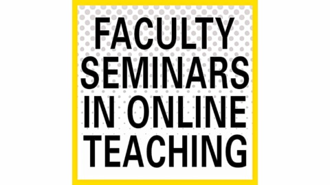 Faculty Seminars in Online Teaching - Setting the Stage